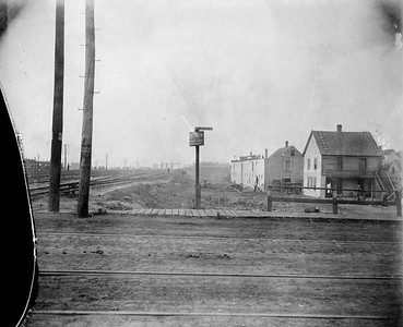 2010.030.CC.015--lee hastman collection cabinet card--PCC&StL CTT--view of improvements between 34th and 35th Streets on the east side of tracks--Brighton Park IL--c1903 0000