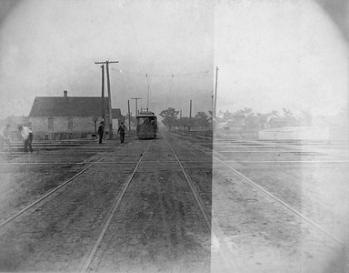 2010.030.CC.012--lee hastman collection cabinet card--PCC&StL CTT--view of 35th Street looking east--Brighton Park IL--c1903 0000