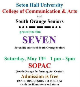 Boz is also in this Saturdays Film at 1 PM of 7 South Orange Residents called Seven at the SOPAC
