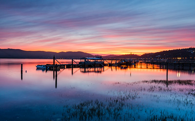 Sunset over Knysna Lagoon