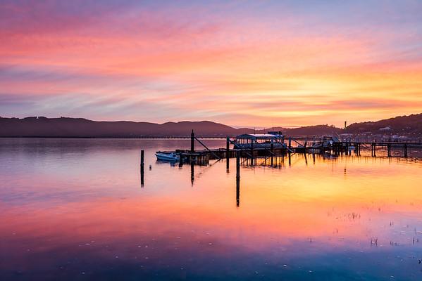 Sunset over Knysna Lagoon