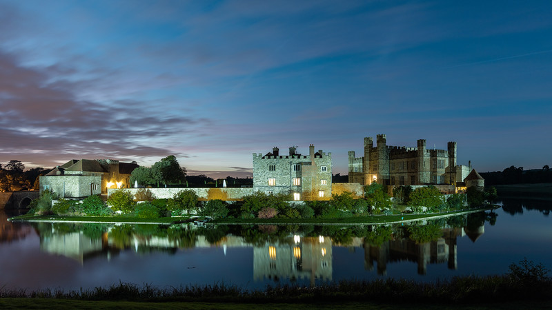 Leeds Castle after sunset - 2