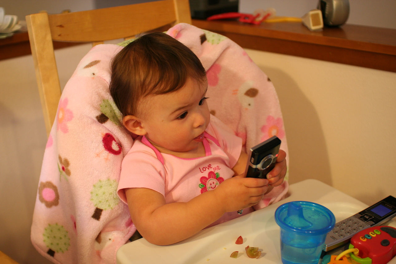 Like her Daddy, Leela loves gadgets!
