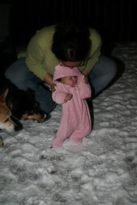 Leela meets snow!