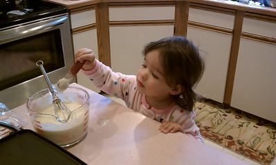 Making pancakes with Dad