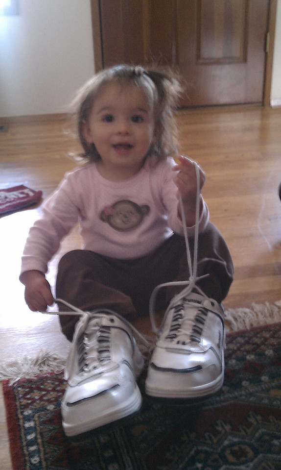 Walking in Dad's shoes
