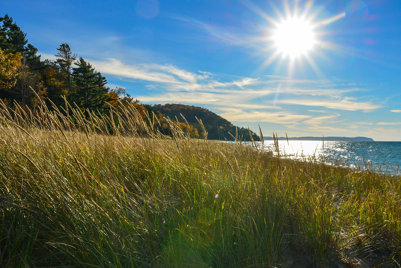 Whaleback, Leland, Lake Michigan, fall color