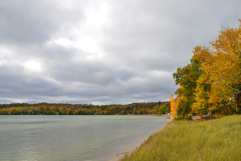 Lake Leelanau with fall colors