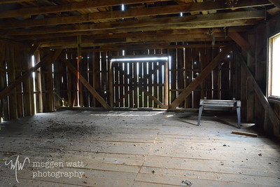 upstairs in the saw mill