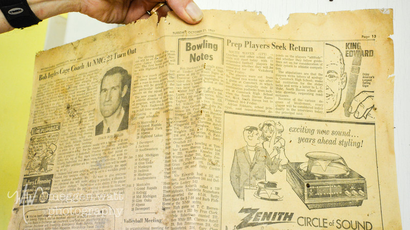 Cottage Row walk-through, newspaper from 1969