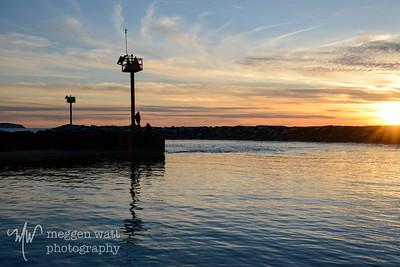 TLR-20170410-8472 Admiring the Sunset, Leland Harbor