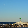 TLR-20170213-6771- Early Light with Setting Moon, Leland Harbor
