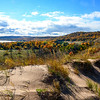 TLR-20151026-8684 Sleeping Bear Dunes and Little Glen Lake with fall color