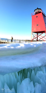 TLR-20180305-0287 Charlevoix Lighthouse with ice cave by the railing; iPhone panorama
