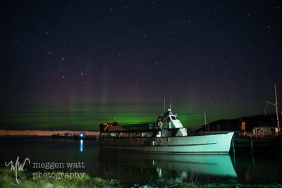 TLR-20150323-2959 - Aurora Borealis Behind the Mishe Mokwa, Leland