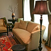Another fabulous Lee Industries sofa with a Jamie Young floor lamp beside.