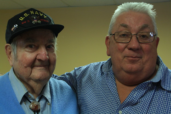 Allen Oscar Killmer, Nora's husband.  Allen will be 96 this December 1, 2016.  Art H joins him for this photo op.