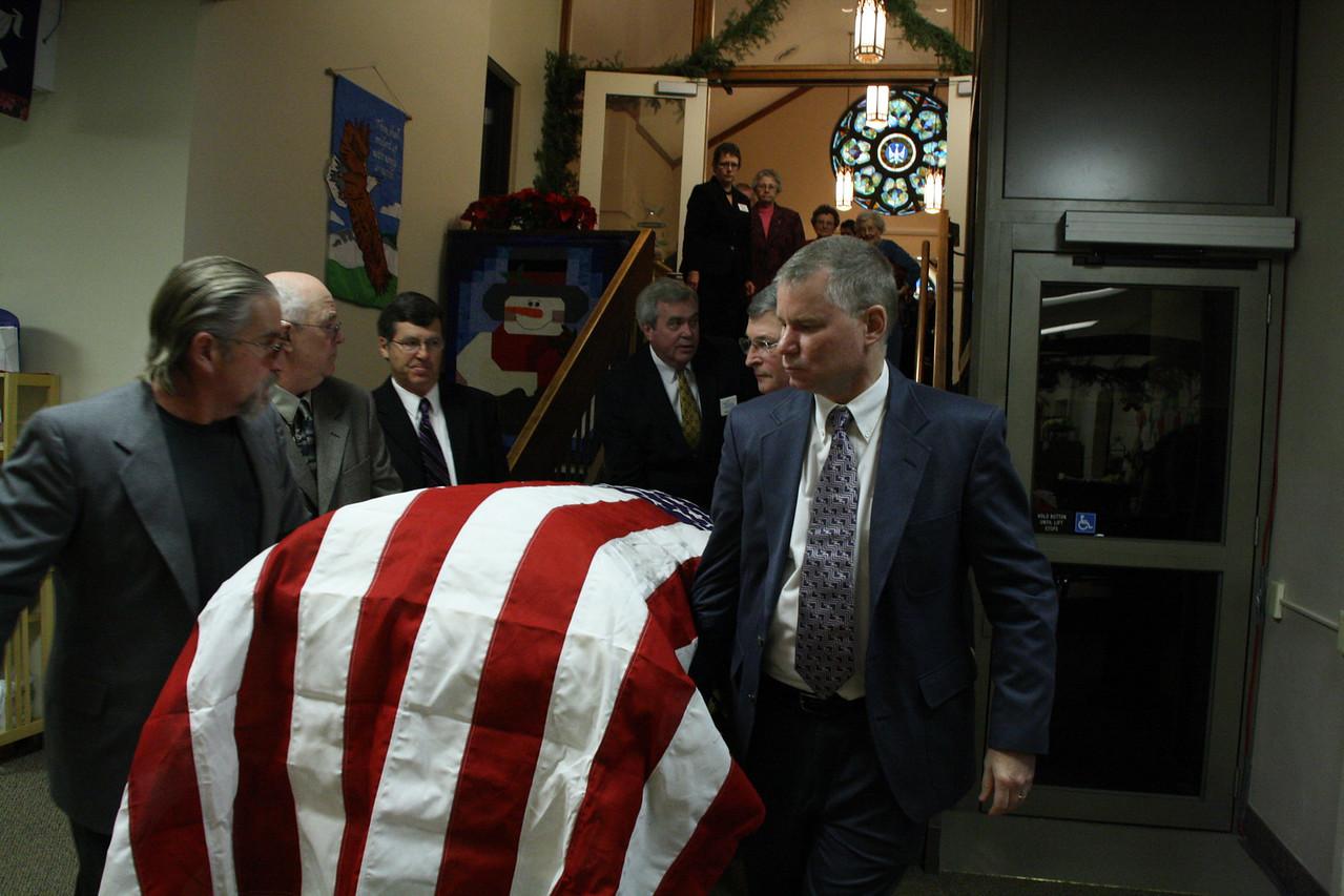 Funeral-Stanley James 12-30-2010.  Casket Bearers were Tom R, Dick J, Al K Jr., Dwight F, Gary K, and Robert K.