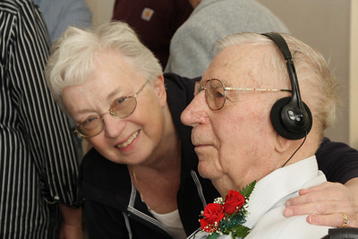 67th wedding anniversary-Stanley and Louise.  Carol with Stanley