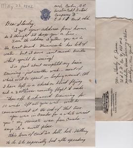 1942-letter from Bernard Corbin, page 1