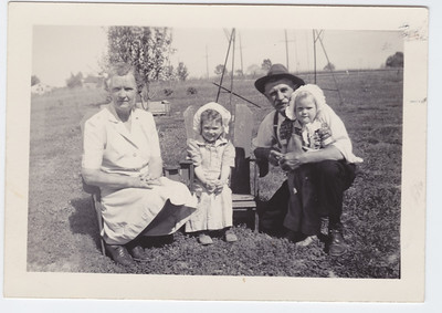 Mary and Ernest James, no names for children or location, or date.