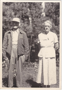 Uncle John Nelson and his sister, our Grandmother, Mary E. Nelson James.