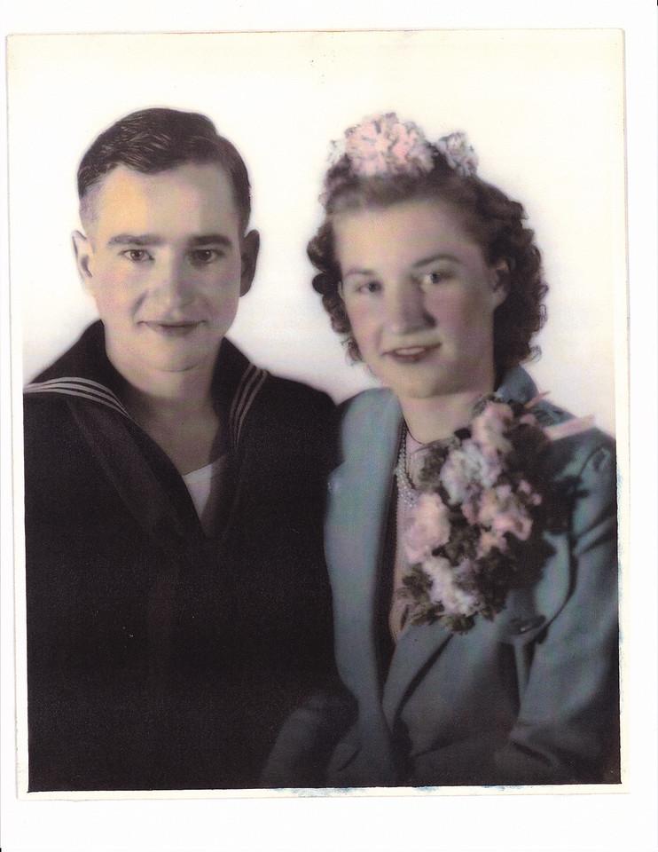 Nora Jennifer James married Allen Oscar Killmer, October 26, 1942, Texas