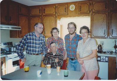 Leonard Fellman, Stanley and Louise James, Dwight Fellman, and Alma Fellman.  Any idea the Year?