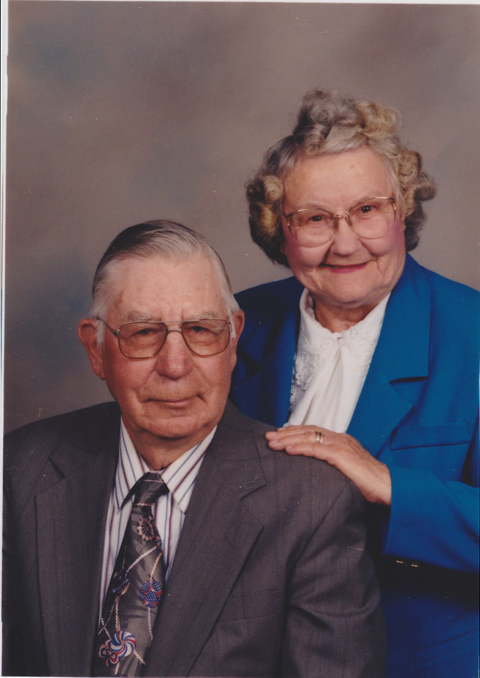 Stanley and Louise James - 1993 church directory photograph.