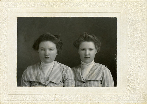 Effie and Mary Nelson.  No date given, Mary could be 15, year would then be 1900.