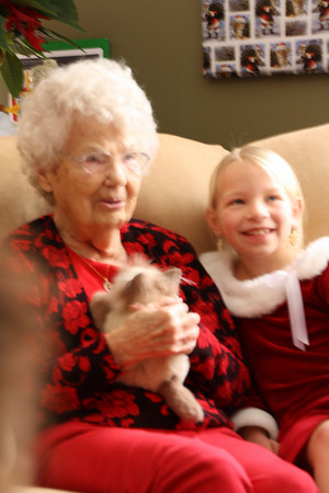 Lois Prior Joslyn and Great Granddaughter Carly Jean Joslyn, daughter of Matt and Katie.