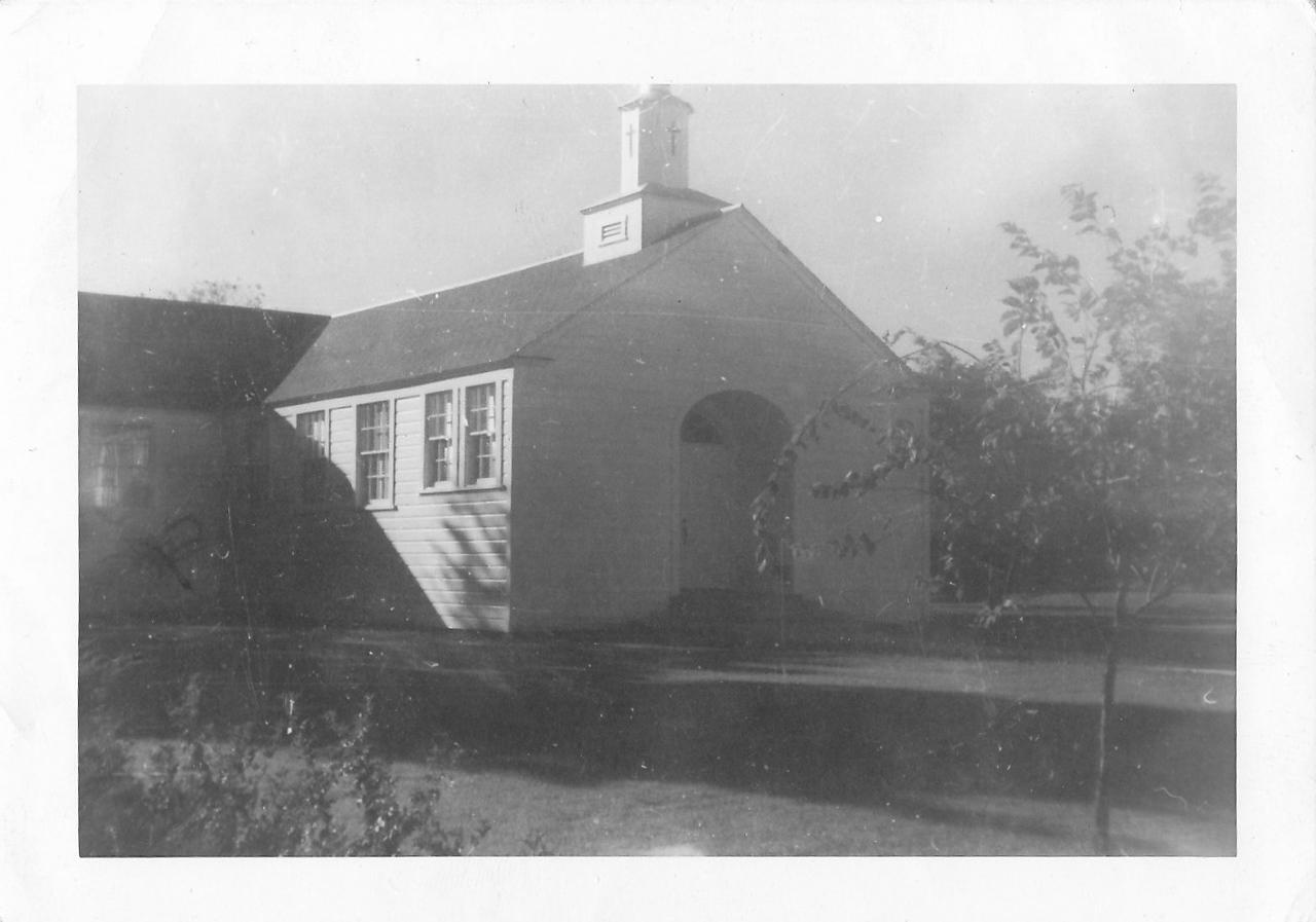 Church in Bryan, Texas that Nora/Allen were married, October 26,1942, October. Reverend Traugaut.