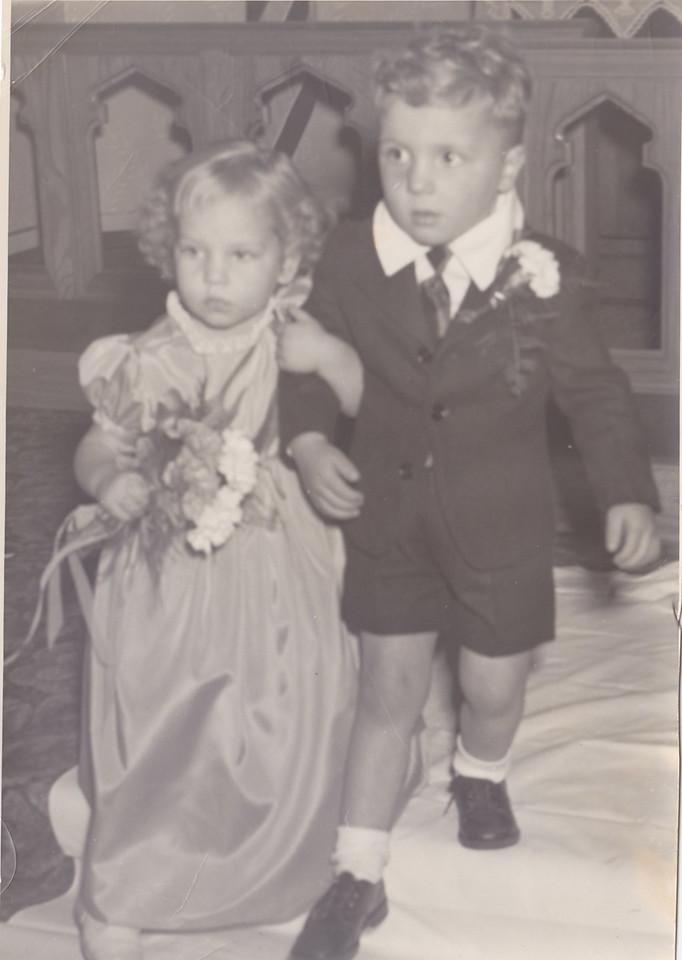 Jean Killmer, with Alvin (Butch) Tonn, wedding of Lorna Killmer to George Tonn