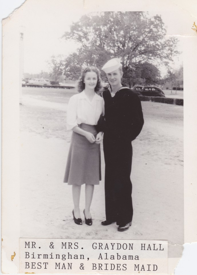 Nora/Allen were married, October 26,1942, October. Reverend Traugaut.  Photo is labeled that these were