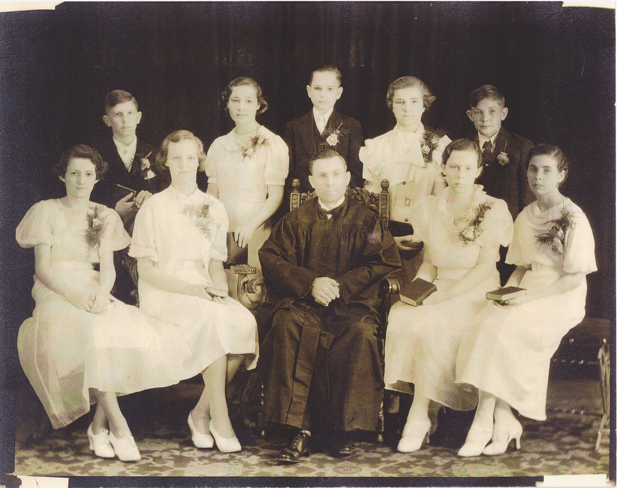 Allen O.Killmer Sr., top row/center.  Pastor A.H. Ziegler, Osseo, St. Pauls, Pastor was a China missionary before Osseo.  1927-1936