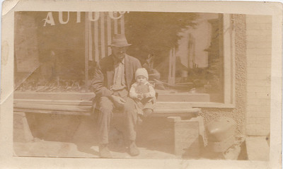 Baby Bryon Killmer and Charles Killmer, father to Louis Killmer Sept. 1918