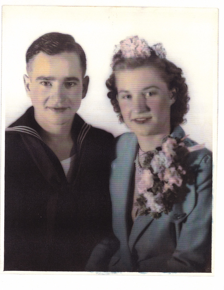 Nora/Allen were married, October 26,1942, October. Reverend Traugaut.