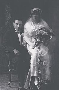 Mary Jane Dodds Killmer  9-11-1894/7-11-1973, married to Louis Henry Killmer 10-17-1887/4-21-1977, St. Johns Lutheran Church, Corcoran, Minn, 11-24-1915.
