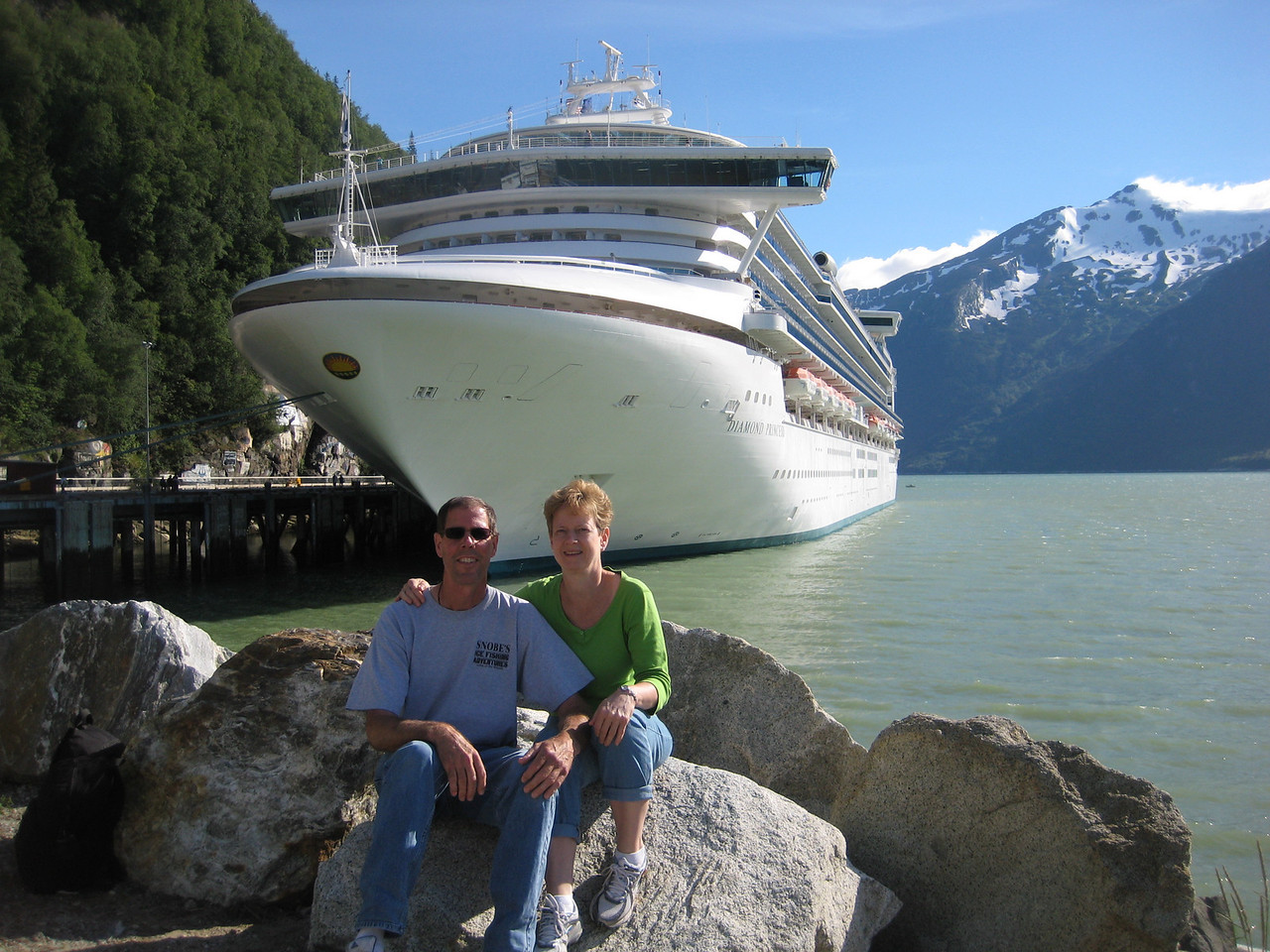 Tom and wife Barb - Alaska, July 2010