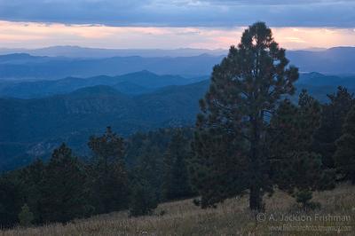 Looking southwest from Hillsboro Peak in New Mexico's Black Range, October 2010.
