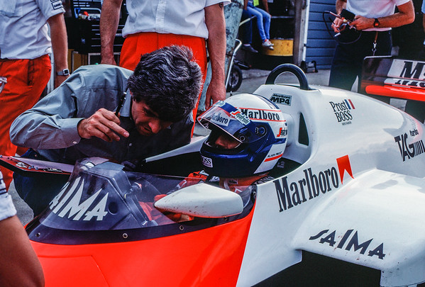 """Continuing discussions for Alain Prost - """"The Professor"""" as he was known."""