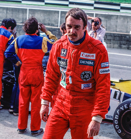 Nigel Mansell - what a cheerful looking chappie!!
