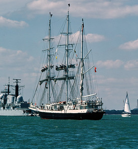 The Lord Nelson at Cowes Week, 1987