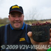 Angler Will Raison holds a 250 ml Drennan pole cup filled with joker. Measuring bait in this way means you can keep track of the quantities you use.© 2009 Brian Gay