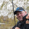 Will Raison's deadly winter F1 feeder rig, small cage feeder packed with live red maggots and  4 mm pellets.