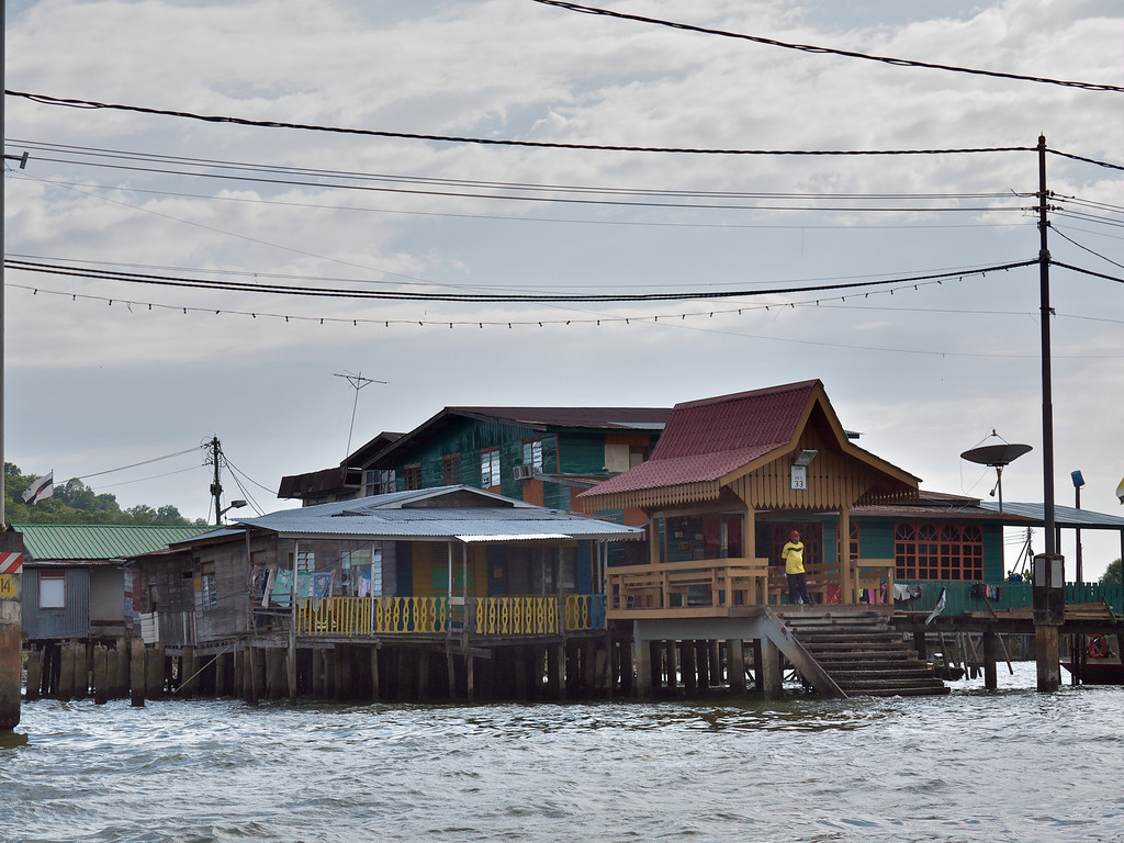 At the bus stop - Water Village, Bandar Seri Bagawan, Brunei