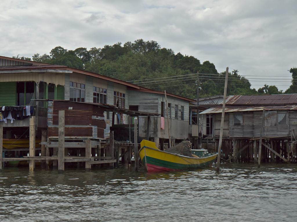 Fishing boat at rest - Water Village, Bandar Seri Bagawan, Brunei