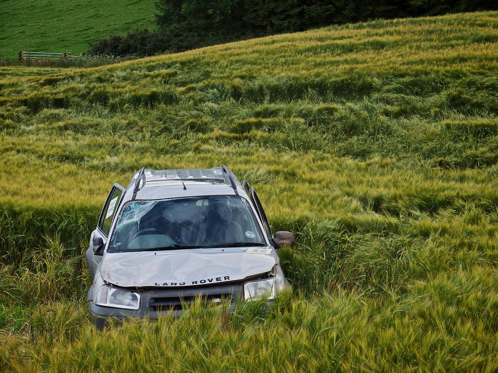 """""""Police Aware"""", Crashed Car, Glenfarg Road"""