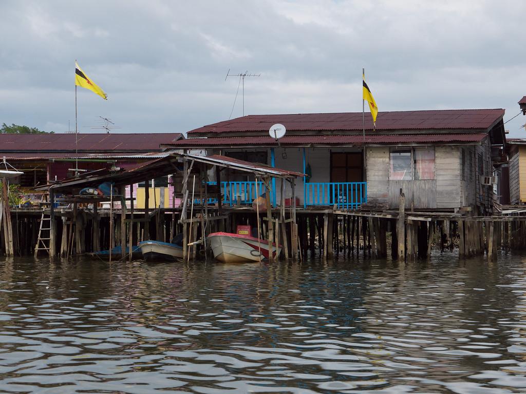 Cars in the drive - Water Village, Bandar Seri Bagawan, Brunei
