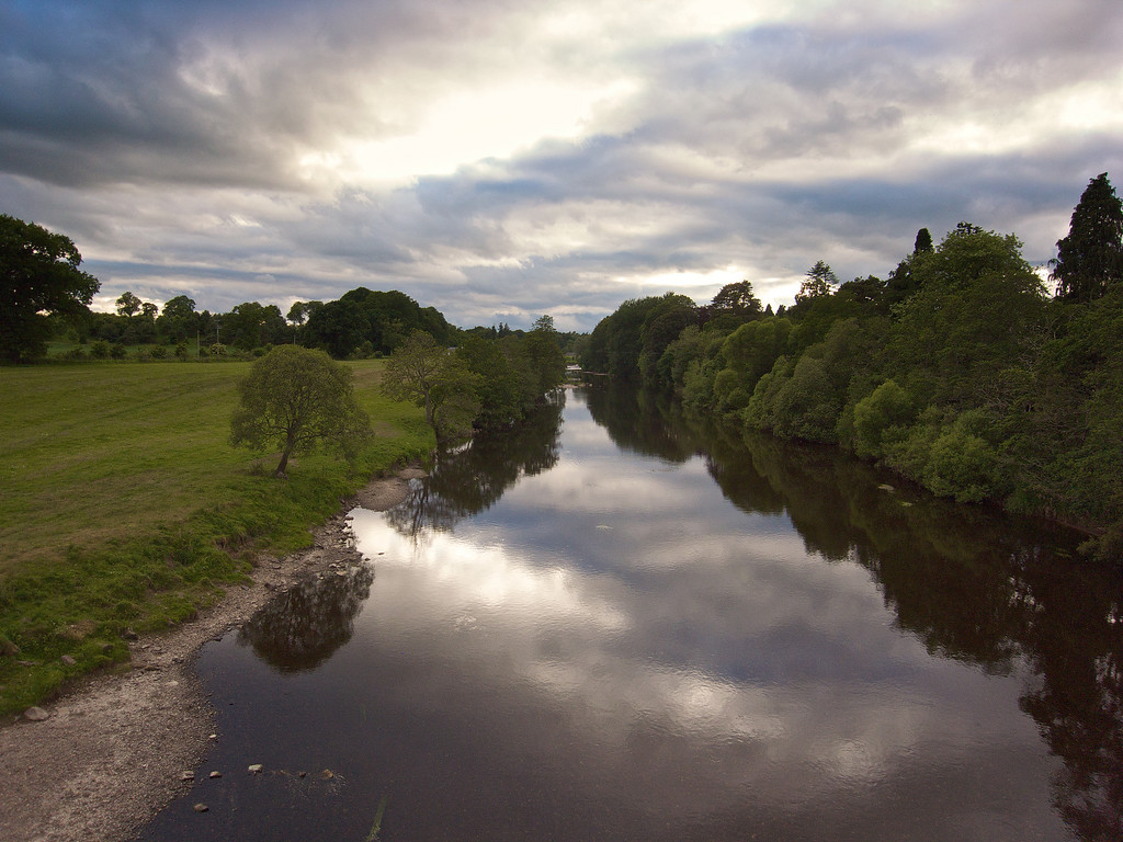 Still waters, River Earn, Kinkell Bridge, Perthshire
